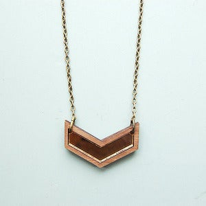 Image of Mini Chevron Necklace in Gold by Nylon Sky 