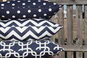 Image of Navy Pillow Cushions Covers