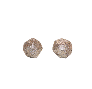 Image of Antique Silver Faceted Studs