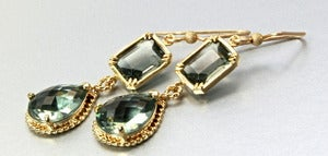 Image of Cubic Zirconia and 14K Gold-Filled Earrings