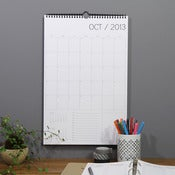 Image of 18 month wall calendar