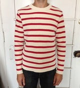 Image of Motorcycle Sweater RED/WHT