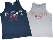 "Image of The ""In Gold We Trust"" White Tank Top by Joe Rocken Exclusive Custom Prints"