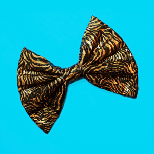 Image of HUGE Metallic Zebra Hair Bow