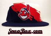 Image of Vintage Deadstock Cleveland Indians Logo Athletic Splash Snapback Cap