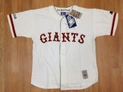 Image of Vintage New York Giants Starter Old Timers Coopertown Baseball Jersey