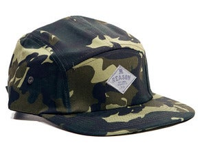 Image of Reason Clothing - Reason Dry Goods 5 Panel Camo Cap