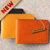 Image of Bi-Fold Hand Stitched Slim Wallet