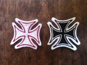Image of chain stitch iron-cross patch