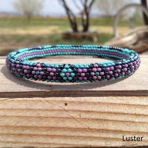 Image of Peyote Stitch Beaded Bangles (Various)