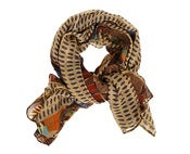Image of African Jungle Scarf - Winter Brown