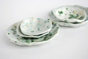 Image of Speckled jade stack dishes