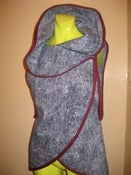 Image of denim like wrap vest