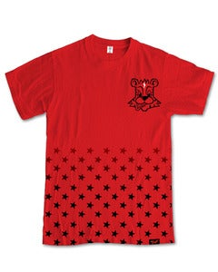 Image of Fresh Star Fade T-Shirt in Red [PRE-ORDER]