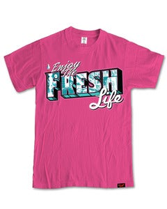 Image of Enjoying The Fresh Life T-Shirt in Pink [PRE-ORDER]