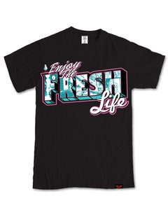 Image of Enjoying The Fresh Life T-Shirt in Black [PRE-ORDER]