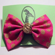 Image of Hot Pink & Lime Bow (large)