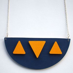 Image of Wooden Tribal Collar Necklace - 'Isis'