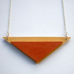 Image of Wooden Tribal Necklace - 'Dune'