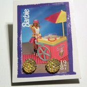 Image of Yellow Barbie Bling Studs