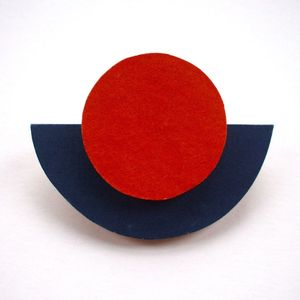 Image of Wooden Tribal Brooch - 'Orb'
