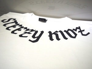 Image of Steezy Kidz Neck Print Tee White