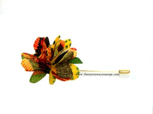 Image of kente lapel flower