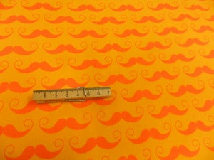 Image of Master Stache - Tone on Tone Yellow/Orange on Cotton Lycra (Per 2 Yards, Shipped)