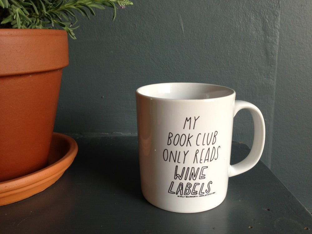 Image of Book (wine) club mug