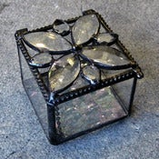 Image of glass jewel-top box