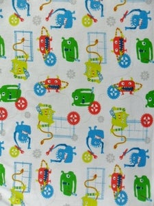 Image of Horror Factory - Monsters at Work (Cotton Rib Knit) Per 2 Yards, Shipped