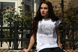 Image of JOSEPHINE white raw t-shirt