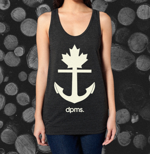 Image of dpms. Anchor Tri-Black Tank - Unisex PRESALE