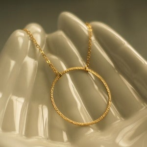 Image of Gold Circle Necklace