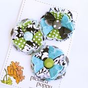 Image of set of 3 posy pins - 841