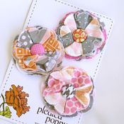Image of set of 3 posy pins - 843