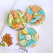 Image of set of 3 posy pins - 846