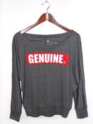 Genuine Ladies Over Shoulder Gray Tee