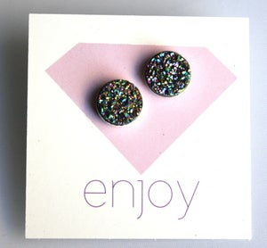 Image of Rainbo Drusy Studs