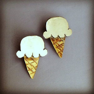Image of Ice Cream Cone Studs
