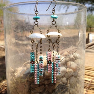 Image of Three Bar Chandelier Earring
