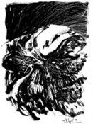 Image of sketch; Swamp Thing
