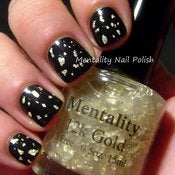 Image of 12k Gold - The Top Coat Collection (white gold flake top coat) FREE SHIPPING