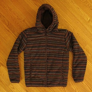 Image of Uniqlo Fair Isle Knit Down Jacket, Size Small