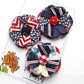 Image of patriotic posy pins - 2