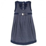 Image of MAYORAL. NAVY PRINT JERSEY DRESS