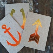 Image of Gold Foil Postcards