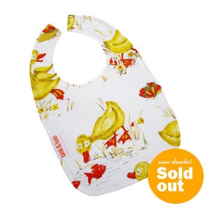 "Image of ""Baby Ducks"" Traditional Bib"