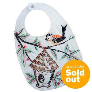 "Image of ""Tweet Tweet"" Traditional Bib"