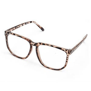 Image of Oversized Glasses - Leopard Print